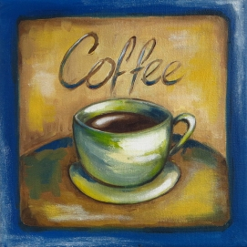 Our Everyday Coffee, Oil on Canvas, 20x20 cm