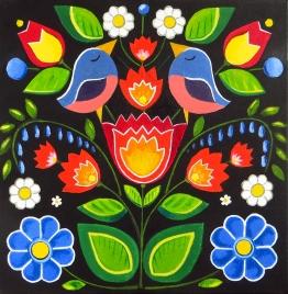 Spring Flowers, Oil on Canvas, 30x30 cm