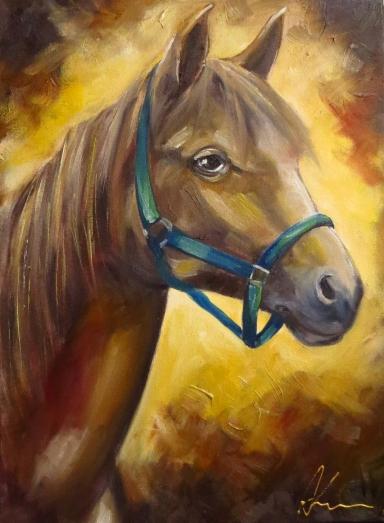 Horse, Oil on canvas, 40x30 cm