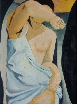 Model - reproduction, Oil on canvas, 40x30 cm