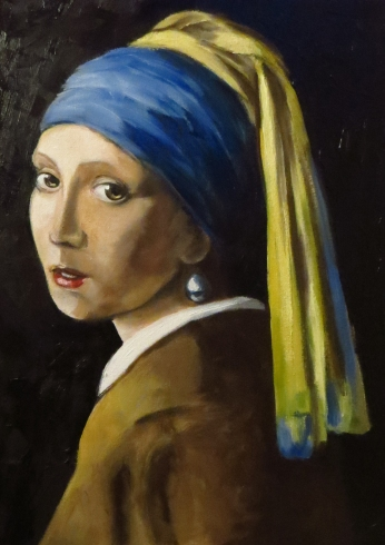 Girl with a Pearl Earring, Oil on canvas, 40x30 cm