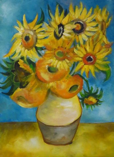 Sunflowers, Oil on canvas, 40x30 cm