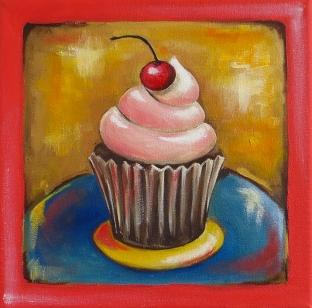 Sweet Treat, Oil on Canvas, 20x20 cm