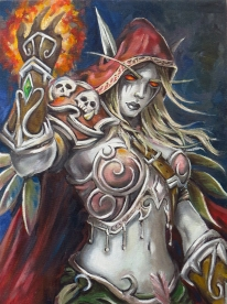 Sylvanas - reproduction, Oil on canvas, 40x30 cm