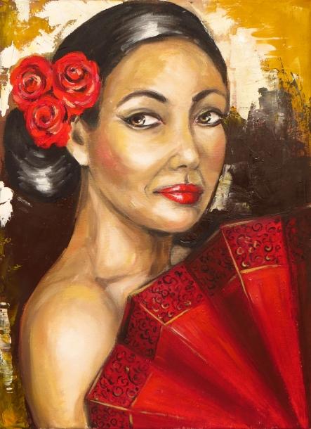 Flamenco Woman, Oil on canvas, 40x30 cm