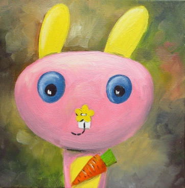 Bunny, Oil on canvas, 20x20 cm