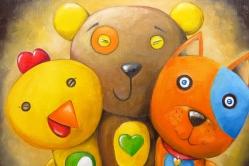 Three Friends, Oil on canvas, 40 x 30 cm
