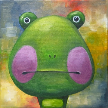 Frog, Oil on canvas, 20x20 cm