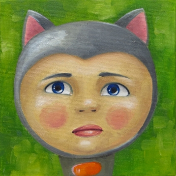 Miki boy, Oil on canvas, 20x20 cm