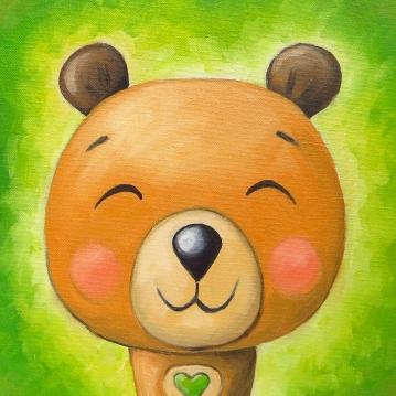 Little Bear, Oil on canvas, 20x20 cm