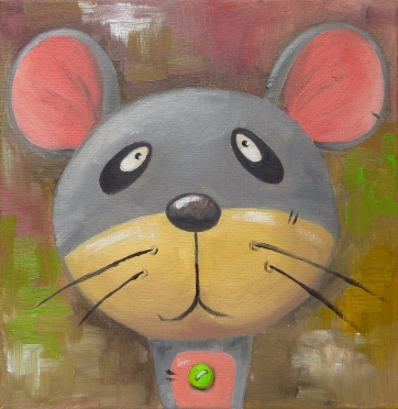 Mouse, Oil on canvas, 20x20 cm