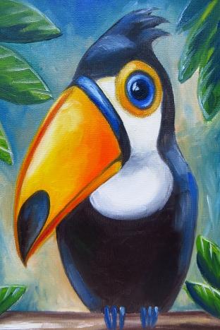 Toucan, Oil on canvas, 30 x 20 cm