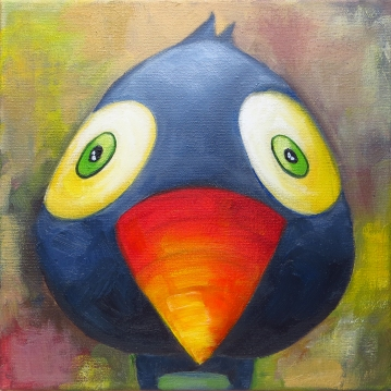 Toucan, Oil on canvas, 20x20 cm