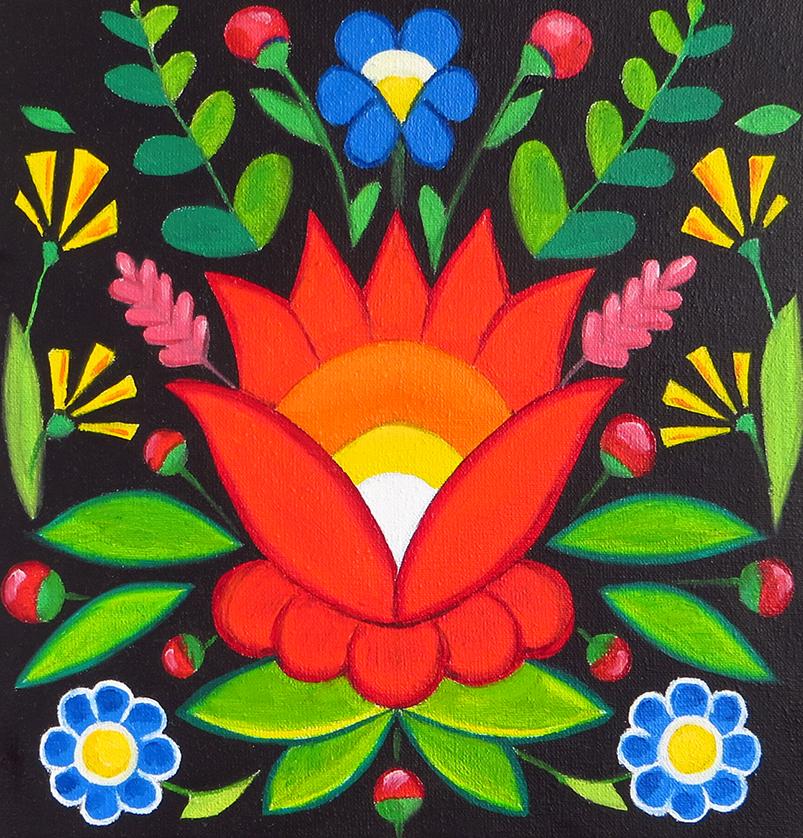 Wild Flowers - Oil on Canvas, 20x20 cm