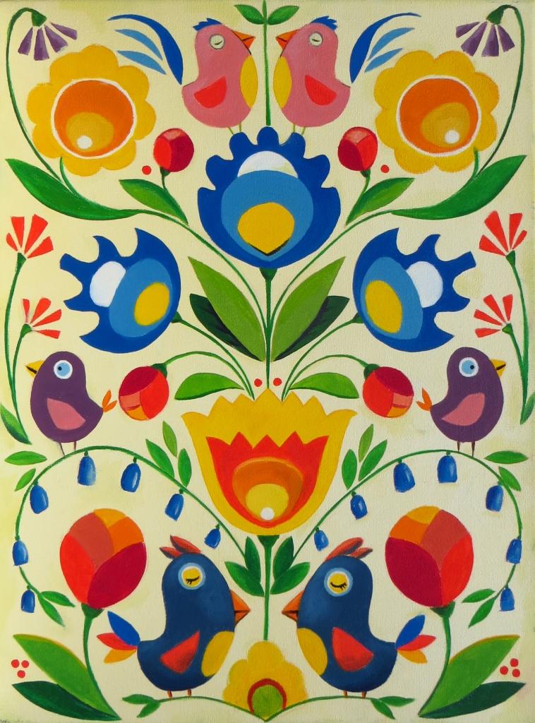 Dreamy Garden - Oil on Canvas, 40x30 cm